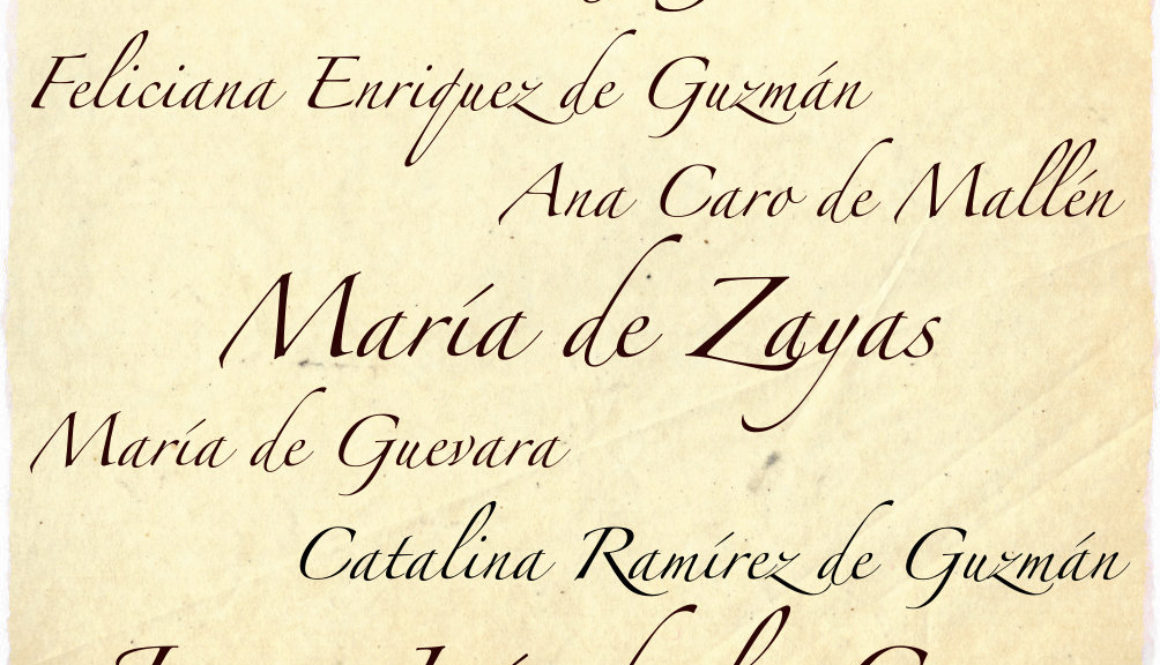 Spanish writer women of 16th and 17th centuries (Golden Age) Names and signatures